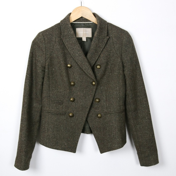 Banana Republic Jackets & Blazers - Banana Republic Brown Wool Tweed Jacket Size 0